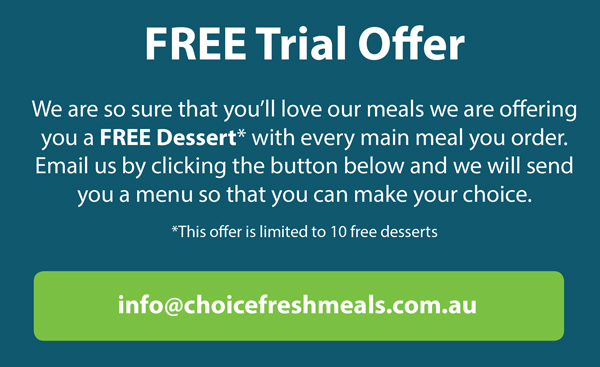 free dessert for your meal